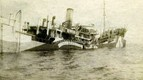 SHIRALA sinking in the English Channel after being mined in 1918