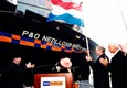 Naming of P&O NEDLLOYD STUYVESANT in 2001. Royal P&O Nedlloyd was sold to Maersk in 2005