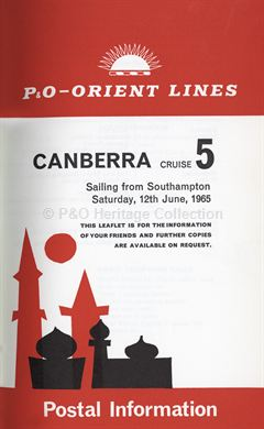 CANBERRA postal instructions