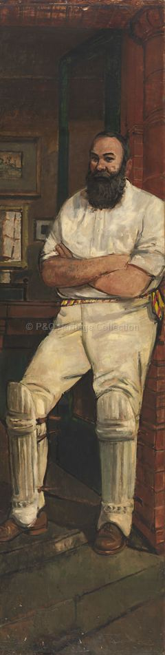Portrait of English cricketer W G Grace
