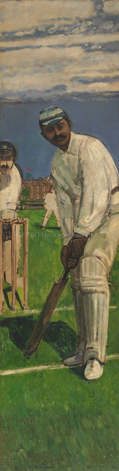 Portrait of Indian cricketer K S Ranjitsinhji