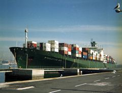RESOLUTION BAY loading in port