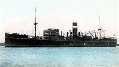 WOODARRA as a troopship at Melbourne
