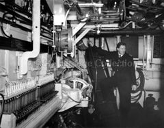 Engine room onboard WOODLARK (1956)