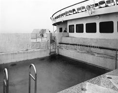 CANBERRA's Tourist Class swimming pool