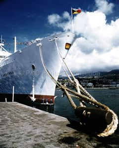 CANBERRA moored at Madeira