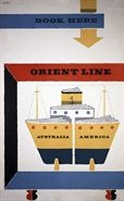 'Book Here' Orient Line poster