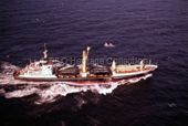 Aerial view of AMRA at sea