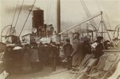 Passengers on deck of MANTUA