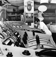 Engineer at work on board CANBERRA