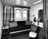 CANBERRA's First Class single berth cabin