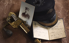 P&O commanders cap, officers sword and other items c.1850