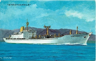 STRATHARDLE off Japan © P&O Heritage Collection