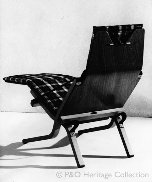 Lounger made by Ernest Race Ltd. © P&O Heritage Collection