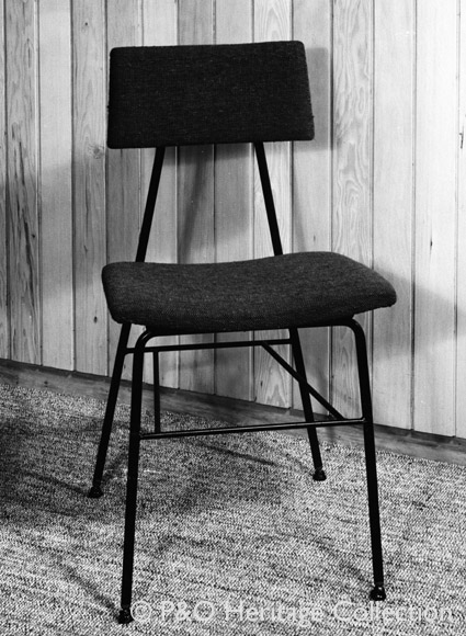 This Conran & Co.stool was used in crew areas such as the TV control room. © P&O Heritage Collection