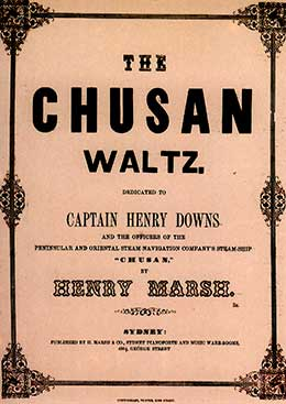 Sheet music for the 'Chusan Waltz'