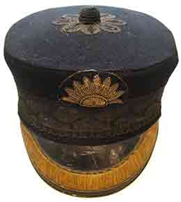 P&O Commanders' cap, as detailed in the strict uniform regulations published in 1869