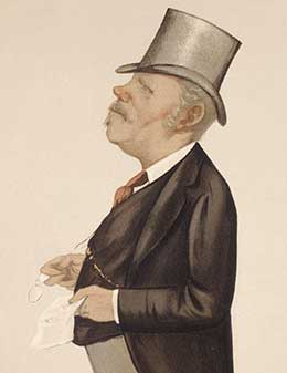 Caricature of Sutherland published in Vanity Fair, 2nd October 1887