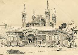 The P&O pavilion at the 1891 Royal Naval Exhibition in London