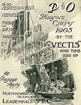 Programme of 'pleasure cruises' on board VECTIS for 1905