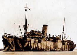 CARPENTARIA in 'dazzle' camouflage