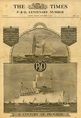'The Times P&O Centenary Number', published on 7th September 1937