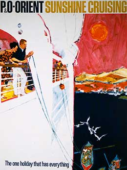 P&O-Orient poster, part of a new advertising campaign,1961-1964