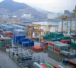Shekou container terminal in China