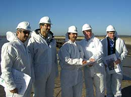 DP World's senior management visiting the London Gateway site on 9th November 2006